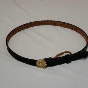 black midi belt from anne klein